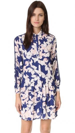 Платье-рубашка Apples and Pears с точечными стежками Whistles. Цвет: мульти