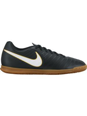 Бутсы TIEMPOX RIO IV IC Nike. Цвет: черный, белый