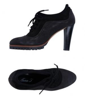 Обувь на шнурках ANNA F.. Цвет: черный