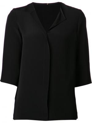 Блузка с укороченными рукавами Peter Cohen. Цвет: чёрный