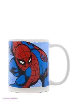 Кружка керамическая в подарочной упаковке. Человек-паук Stor. Цвет: синий, голубой, красный