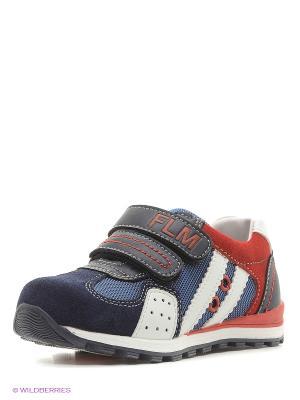 Ботинки Flamingo. Цвет: синий, красный, белый