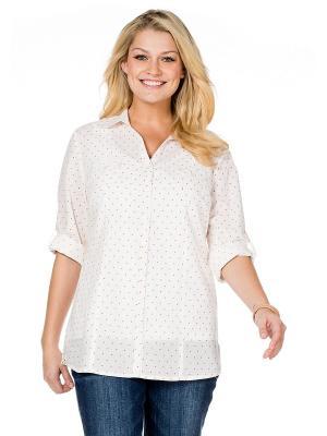 Рубашка sheego. Цвет: белый