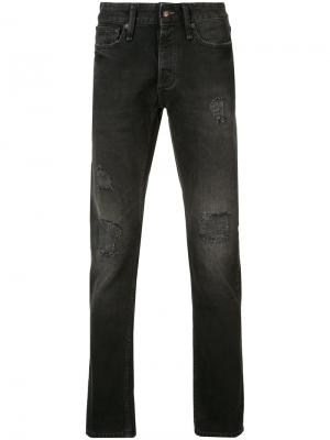 Distressed jeans Denham. Цвет: чёрный