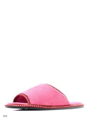 Тапочки Из Текстильных Материалов. BRIS. Цвет: розовый