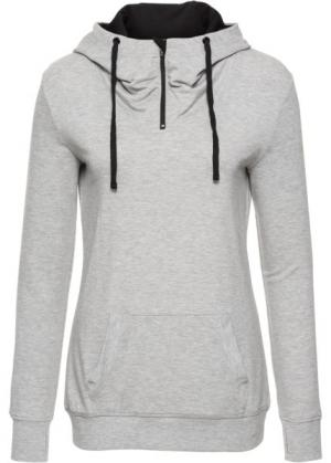 Легкий свитшот с длинным рукавом (светло-серый меланж) bonprix. Цвет: светло-серый меланж