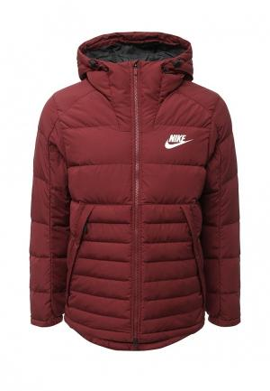 Пуховик Nike. Цвет: бордовый