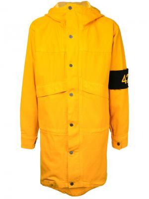 Куртка с капюшоном 424 Fairfax. Цвет: жёлтый и оранжевый