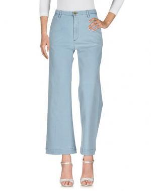 Джинсовые брюки VINTAGE 55. Цвет: небесно-голубой