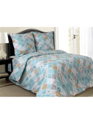 Комплект постельного белья Блакiт. Цвет: серо-голубой, голубой