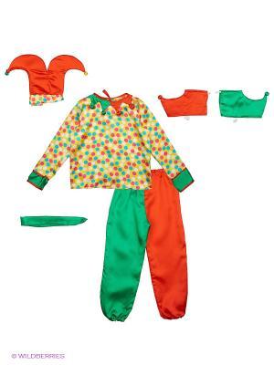 Карнавальный костюм Петрушка Карнавалия. Цвет: желтый, зеленый, красный