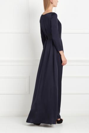 Платье в пол NATALIA GART. Цвет: синий