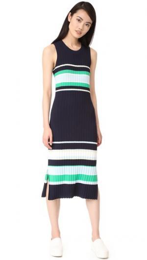 Платье без рукавов с округлым вырезом Grey Jason Wu. Цвет: полночный/ярко-зеленый с желтоватым отливом