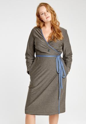 Платье Lessismore. Цвет: хаки