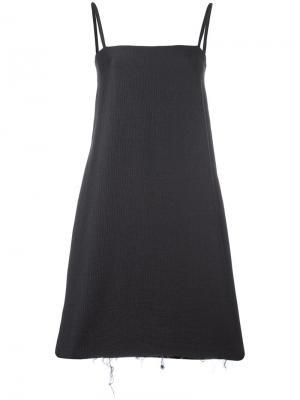 Платье с квадратным вырезом Charlie May. Цвет: серый