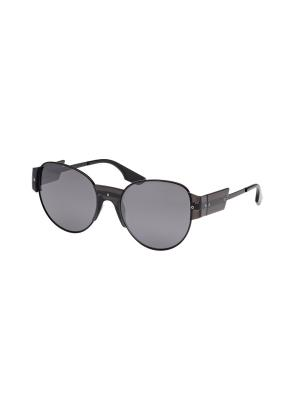 Солнцезащитные очки McQueen. Цвет: черный