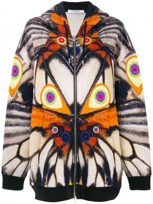 Толстовка с капюшоном изображением крыльев Givenchy. Цвет: многоцветный