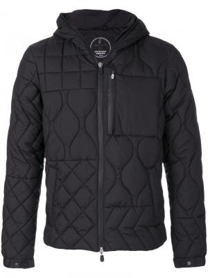 Стеганая куртка с капюшоном Save The Duck. Цвет: чёрный