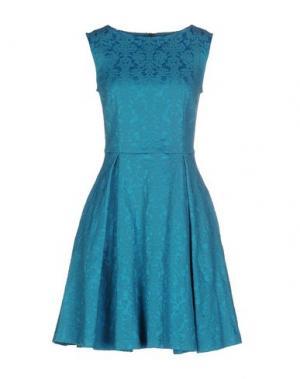 Короткое платье GAZEL. Цвет: бирюзовый