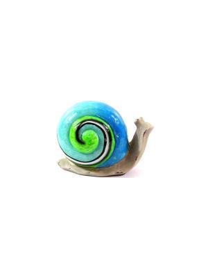 Садовая фигура - Улитка Marquis. Цвет: голубой, серый