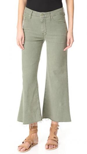 Укороченные потрепанные джинсы Roller MOTHER. Цвет: зеленый милитари