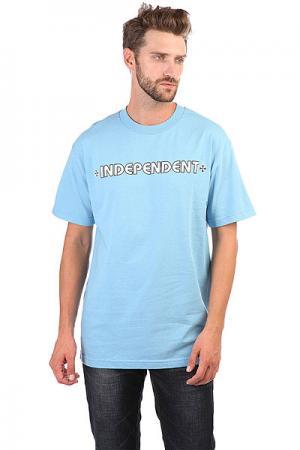 Футболка  Bar/Cross Carolina Blue Independent. Цвет: голубой