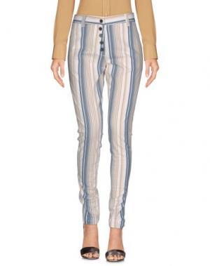 Повседневные брюки EMMA&GAIA. Цвет: слоновая кость