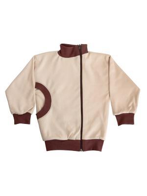 Куртка-косушка МИКИТА. Цвет: коричневый,бежевый