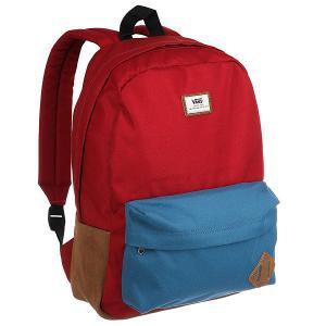 Рюкзак городской  Old Skool Ii Back Red Vans. Цвет: красный,синий,бежевый