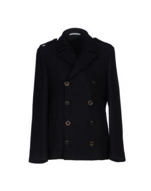 Пальто AGLINI. Цвет: темно-синий