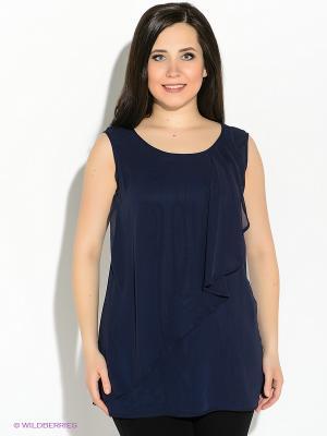 Блузка Vera Mont. Цвет: темно-синий