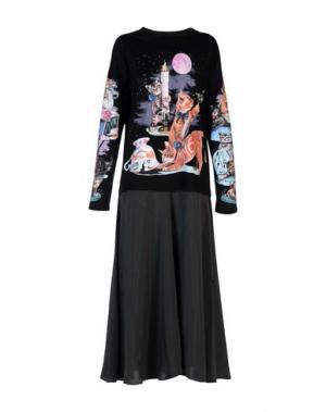 Длинное платье MM6 MAISON MARGIELA. Цвет: черный
