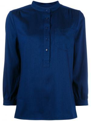 V-neck blouse A.P.C.. Цвет: синий