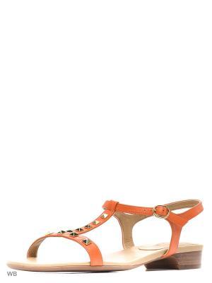 Босоножки Vaneli. Цвет: оранжевый