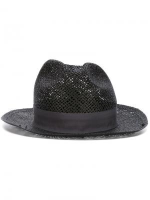 Плетеная шляпа Super Duper Hats. Цвет: чёрный