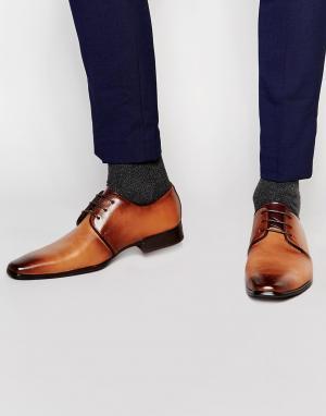 Front Строгие туфли на шнуровке. Цвет: рыжий
