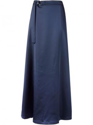 Длинная юбка с поясом Nomia. Цвет: синий