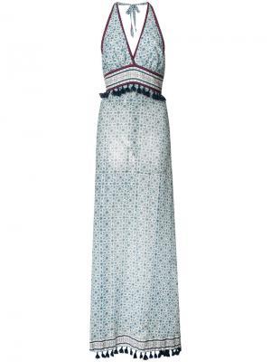 Платье с вырезом-халтер и принтом Dainty Talitha. Цвет: белый