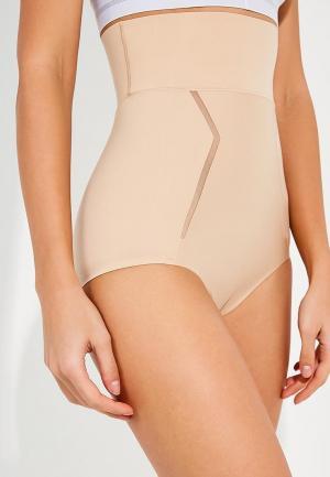 Белье корректирующее Calvin Klein Underwear. Цвет: бежевый