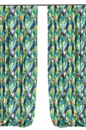 Фотошторы Два попугая BELLINO HOME. Цвет: зеленый, желтый