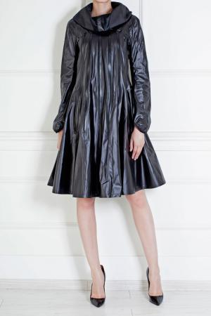 Пальто из полиэстера Junya Watanabe. Цвет: черный
