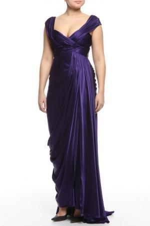 Платье вечернее Dina Bar-El. Цвет: фиолетовый
