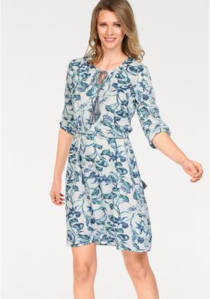 Платье CHEER. Цвет: белый/аква/темно-синий/темно-зеленый