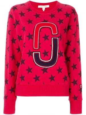 Толстовка с принтом звезд Marc Jacobs. Цвет: красный