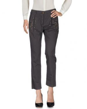 Повседневные брюки DIXIE. Цвет: серый