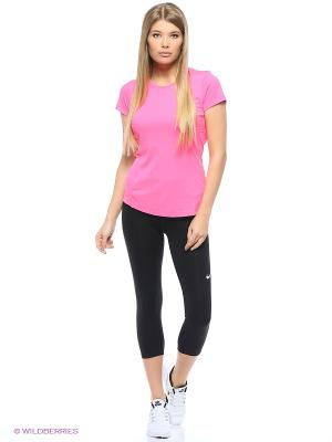 Бриджи NP CL CAPRI Nike. Цвет: черный, розовый