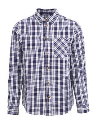 Рубашка Button Blue. Цвет: темно-синий, белый, красный