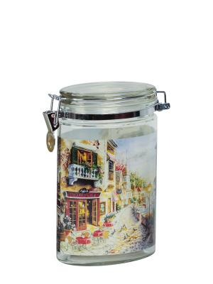 Банка Улицы Флоренции 1200мл Elff Ceramics. Цвет: серебристый, оранжевый