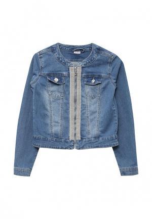 Куртка джинсовая Blukids. Цвет: голубой