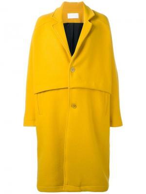 Пальто Roger Reality Studio. Цвет: жёлтый и оранжевый